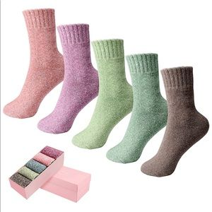 Womens Socks Wool Socks Women Thick Knit Vintage